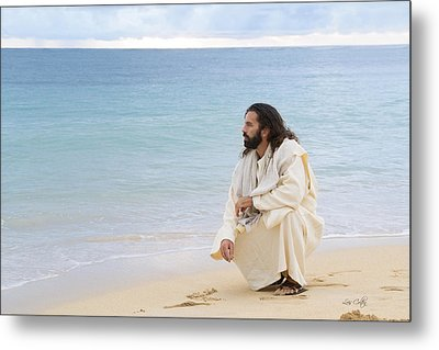 Sands Of The Sea Metal Print by Lois Colton