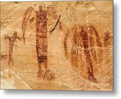 Sandstone Angels - Buckhorn Wash Pictograph Panel - Utah Metal Print by Gary Whitton