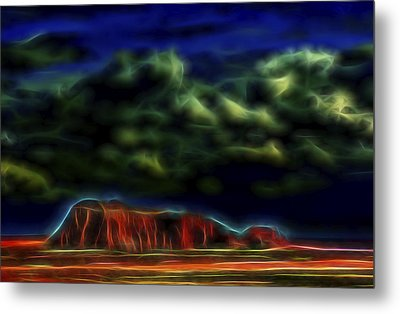 Metal Print featuring the digital art Sandstone Monolith 1 by William Horden