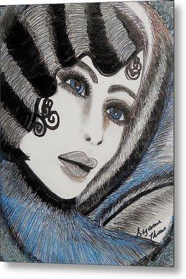 Sandy Art Deco Metal Print by Suzanne Thomas