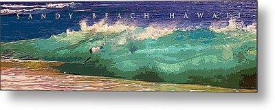 Sandy Beach Hawaii Metal Print by Ron Regalado