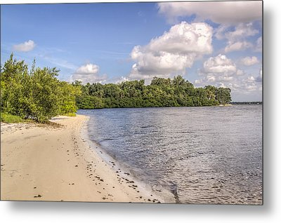 Metal Print featuring the photograph Sandy Beach by Jane Luxton