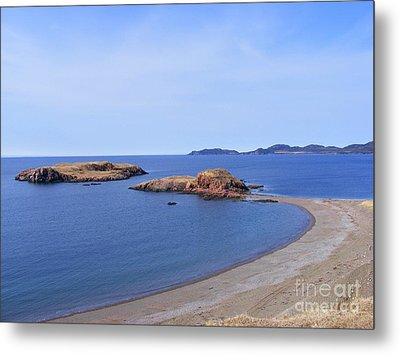 Sandy Beach - Little Island - Coastline - Seascape  Metal Print by Barbara Griffin