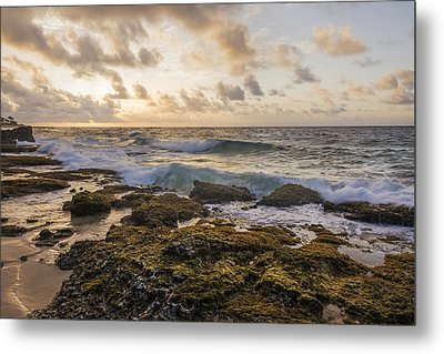 Sandy Beach Sunrise 2 - Oahu Hawaii Metal Print by Brian Harig