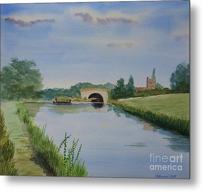 Metal Print featuring the painting Sandy Bridge by Martin Howard