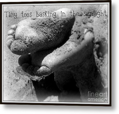 Metal Print featuring the photograph Sandy Feet by Heidi Manly