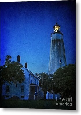 Metal Print featuring the photograph Sandy Hook Lighthouse At Twilight by Debra Fedchin