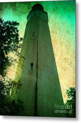 Sandy Hook Lighthouse Metal Print by Denise Tomasura