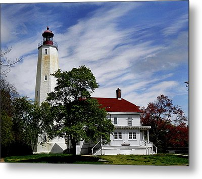 Sandy Hook Lighthouse Nj Metal Print by Skip Willits