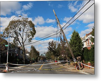 Metal Print featuring the photograph Sandy In Astoria 2 by Jim Poulos