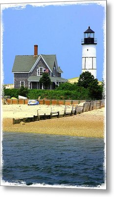 Sandy Neck Light Metal Print by Stephen Stookey