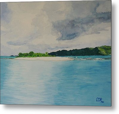 Sandy Spit Revisited Metal Print by Connie Campbell Rosenthal