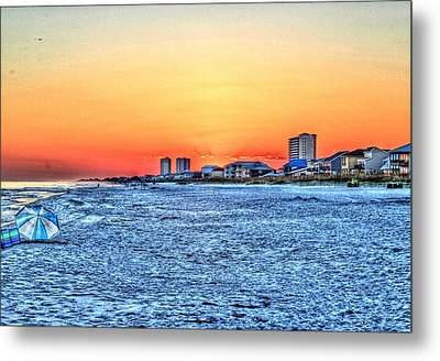 Sandy Sunset Metal Print