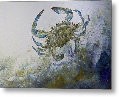Sandy Surfer Metal Print by Nancy Gorr