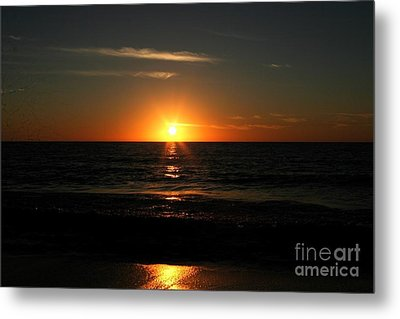 Sanibel At Sunset Metal Print