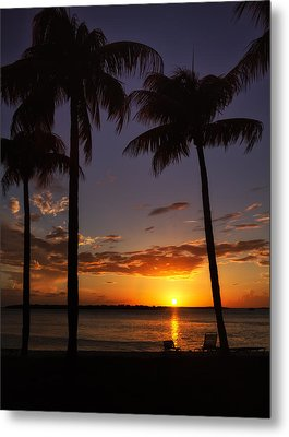 Sanibel Island Sunset Metal Print by Kim Hojnacki