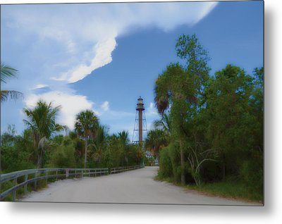 Metal Print featuring the photograph Sanibel Lighthouse Road by Timothy Lowry