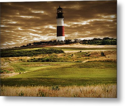 Metal Print featuring the photograph Sankaty Head Lighthouse In Nantucket by Mitchell R Grosky