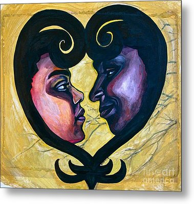 Metal Print featuring the painting Sankofa Love by Gabrielle Wilson-Sealy