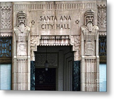 Santa Ana City Hall - 01 Metal Print by Gregory Dyer