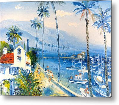 Santa Barbara Harbor Metal Print