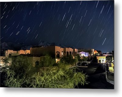 Metal Print featuring the photograph Santa Catalina Mountain Startrails by Dan McManus
