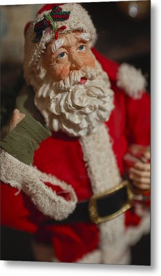 Santa Claus - Antique Ornament - 02 Metal Print by Jill Reger