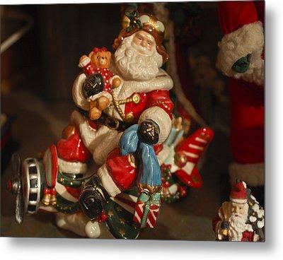 Santa Claus - Antique Ornament -05 Metal Print by Jill Reger