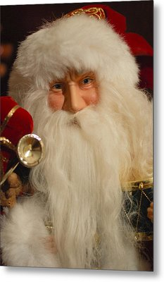 Santa Claus - Antique Ornament - 17 Metal Print by Jill Reger
