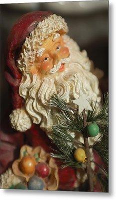 Santa Claus - Antique Ornament - 18 Metal Print by Jill Reger