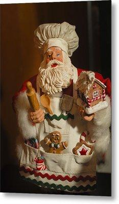 Santa Claus - Antique Ornament - 22 Metal Print by Jill Reger