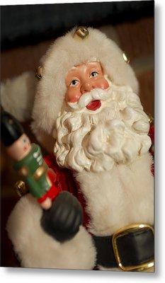 Santa Claus - Antique Ornament - 25 Metal Print by Jill Reger