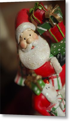 Santa Claus - Antique Ornament - 28 Metal Print by Jill Reger