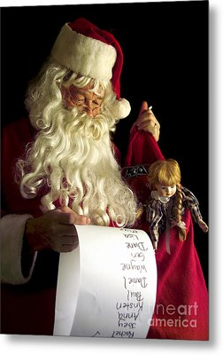Santa Claus Metal Print by Diane Diederich