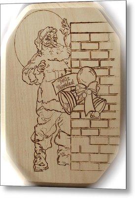 Santa Claus - Feliz Navidad Metal Print by Sean Connolly