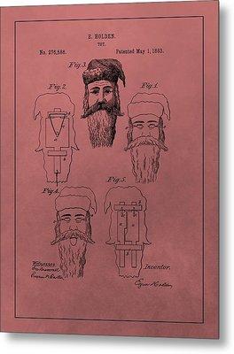 Santa Claus Mask Patent Metal Print by Dan Sproul