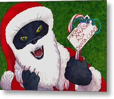 Santa Claws Metal Print by Catherine G McElroy