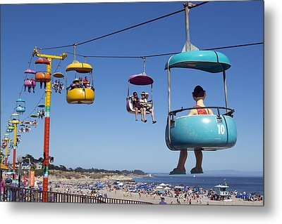 Santa Cruz Beach Amusement Park  Metal Print