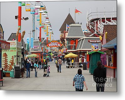 Santa Cruz Beach Boardwalk California 5d23625 Metal Print by Wingsdomain Art and Photography