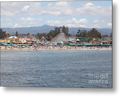 Santa Cruz Beach Boardwalk California 5d23799 Metal Print by Wingsdomain Art and Photography