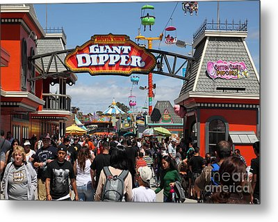 Santa Cruz Beach Boardwalk California 5d23867 Metal Print by Wingsdomain Art and Photography