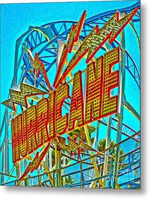 Santa Cruz Boardwalk - Hurricane Metal Print by Gregory Dyer