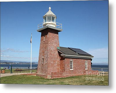 Santa Cruz Lighthouse Surfing Museum California 5d23940 Metal Print by Wingsdomain Art and Photography