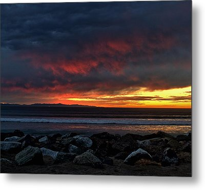 Metal Print featuring the photograph Santa Cruz Rocks by Michael Gordon