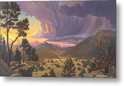 Santa Fe Baldy Metal Print by Art James West
