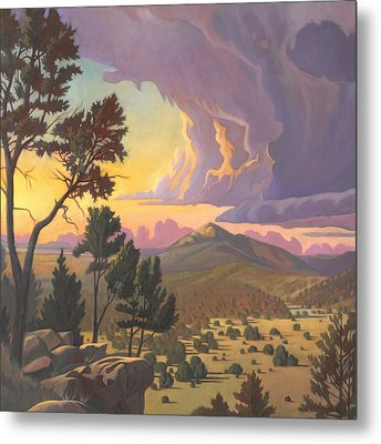 Santa Fe Baldy - Detail Metal Print by Art James West