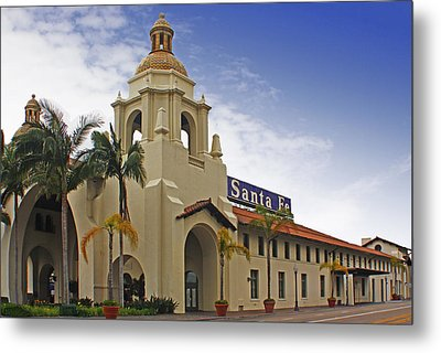 Metal Print featuring the digital art Santa Fe Depot by Photographic Art by Russel Ray Photos