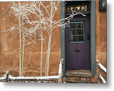 Santa Fe Purple Door Metal Print