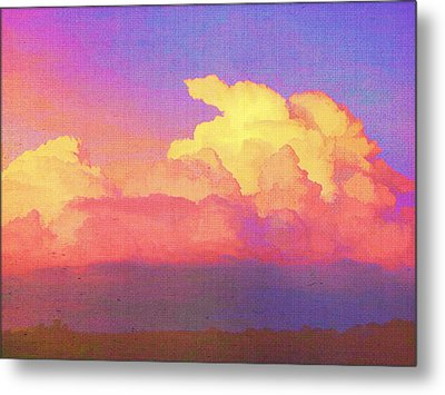 Santa Fe Sunset Metal Print