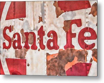 Santa Fe Vintage Railroad Sign Metal Print by Steven Bateson